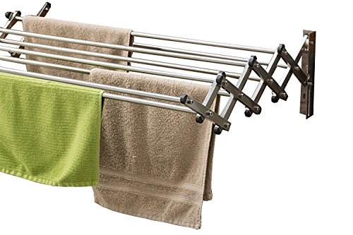 Kawachi Stainless Steel Foldable 2.5 Feet Loundry Hanger Wall Mounted Cloth Dryer Stand Made in India I69  available at amazon for Rs.1290