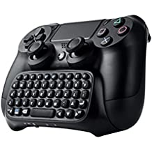 Chatpad für PS4,Webat Bluetooth Mini Wireless Chatpad Nachricht USB Game Controller 2.4G Wireless KeyPad Adapter Dual Shock Controller für PS4 PlayStation