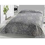 JEMIDI Bett und Sofaüberwurf My Home Gesteppt 220 x 240cm Überwurf Tagesdecke Sofa Couch Decke (Design 6)