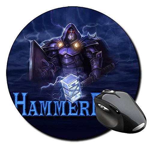 hammerfall-threshold-tapis-de-souris-ronde-round-mousepad-pc