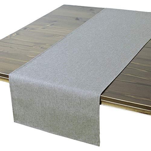 Tischläufer Wien, grau, 40x140 cm, Fleckschutz, Tischläufer für das ganze Jahr - 40 40 X Tischdecke