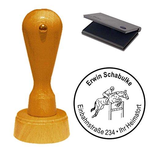 Stempel mit Kissen « SPRING REITER » Adressenstempel Firmenstempel Reiterhof Reiten Pferd (Spring Reiten Pferd)