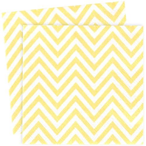 serviettes-en-papier-chevron-jaune-x20