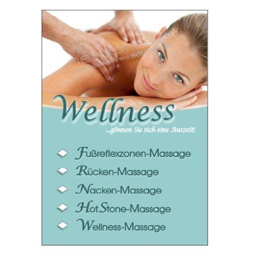 Foto de masaje-Poster para Anuncio Masajes DIN A1, Cartel de publicidad Cartel Wellness