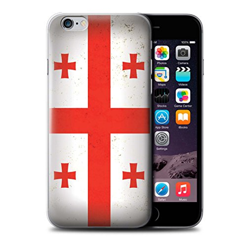 für Apple iPhone 6 / Georgien/Georgisch Muster/Asien Flagge Kollektion ()