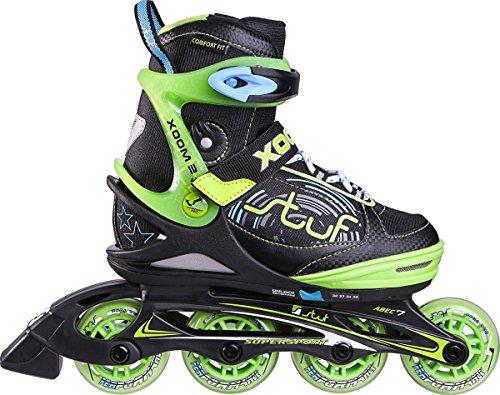 stuf XOOM 2 BOY JR. INLINE SKATE, black/green/blue... S