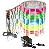 TOOGOO(R)Coche Etiqueta Musica Ritmo LED Flash Luz Lampara Sonido Activado Ecualizador (90x25cm)