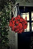Gardman Künstlicher Weihnachtsdekoration Weihnachtsstern-Formschnittkugel, Kunstpflanze, mit Kette, 26 cm