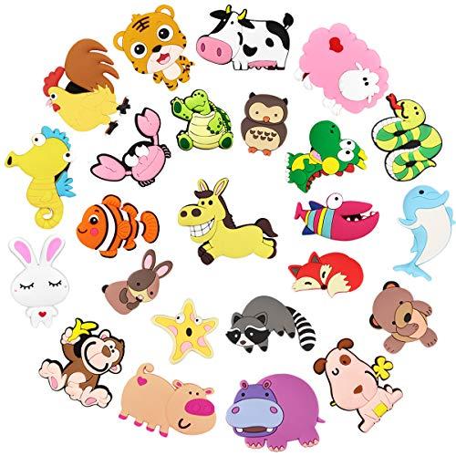 Tectri Magnete Kinder Magnete Kühlschrank, Kühlschrankmagnete Tiere Lustige Stark Magnet Spiele Tier Magnete für Magnettafel Whiteboard Küche Büro und Klassenzimmer 25 Stücke