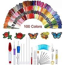 138 agujas de punzón con bordado mágico, juego de bolígrafos de bordado, diseño de