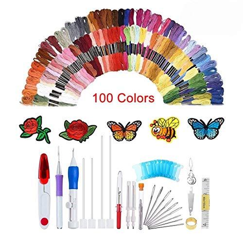 138 agujas de punzón con bordado mágico