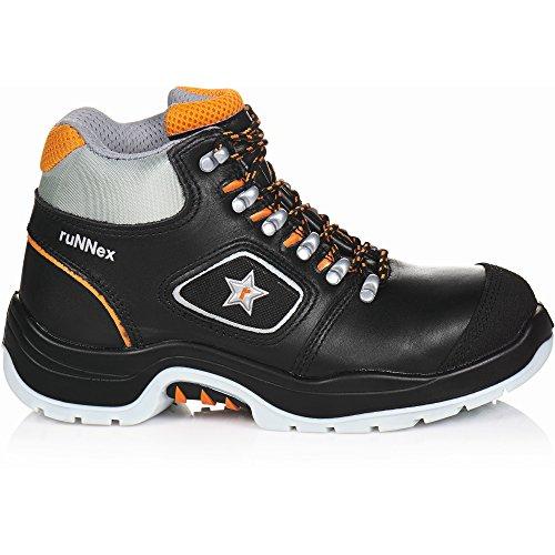 ruNNex 5308-47 Bottes de sécurité TeamStar S3 Taille 47 Noir/Orange Noir/orange