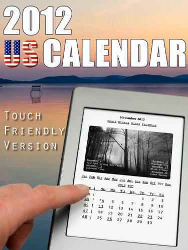 2012 US Calendar-Touch Friendly Version (English Edition)