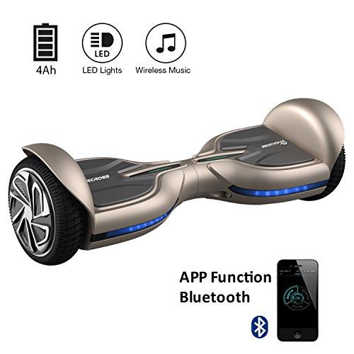 EverCross Diablo Hoverboard 6,5 Zoll Smart Self Balancing Elektroscooter Elektroroller Skateboards Bluetooth (braun)