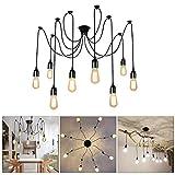 Lightess Lámpara Vintage Lámpara de Techo Lámpara de Araña Industrial Lámpara de...