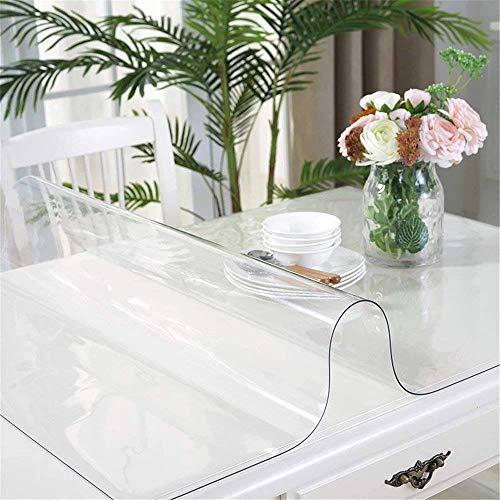 Bove Cristalino Transparente Protector de Escritorio Pad Protector de Mesa de Plástico A Prueba de Agua para la Tabla Rectángulo Vinilo Cubierta de Tabla de PVC-1.5Mm-50x100Cm(20x39Pulgada)