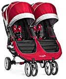 Baby Jogger City Mini Double Passeggino, Rosso(Crimson/Gray)