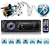 Catuo Car Stereo with Bluetooth,In-Dash Single Din Car Radio,Car MP3 Radio Player USB/SD/AUX/Remote Control Included