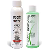 Keratin Forte Keratin Brazilian Keratin Hair Blowout Treatment Extra Strength 120ml with Clarifying Shampoo Enhanced Formula