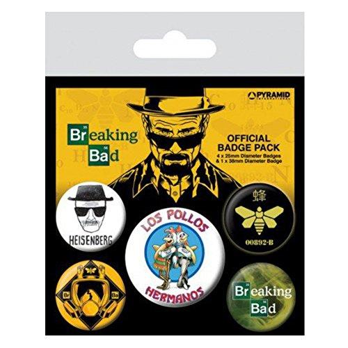 Breaking Bad Los Pollos Hermanos 5-Button Badge Pack