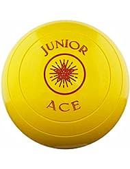 Taylor Ace Junior joven Bowler césped nivel verde al aire libre larga alfombrilla para interiores juego de 4cuencos, amarillo