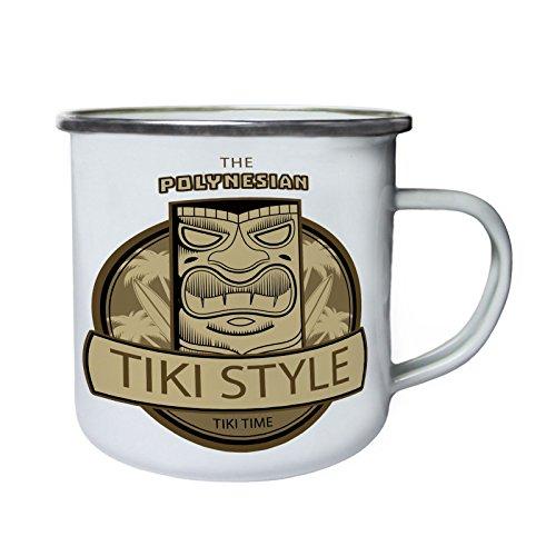 Aloha Tiki Polynesische Maske Retro, Zinn, Emaille 10oz/280ml Becher Tasse o732e