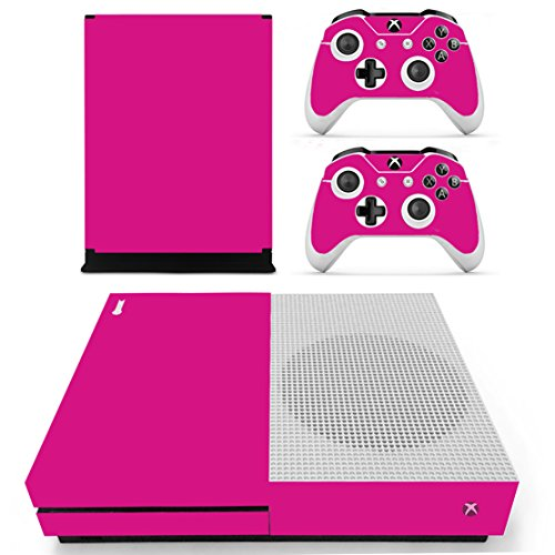 Stillshine Xbox One S Vinly Skin Protective Sticker Konsole & 2 Controller Decal Sticker & Kamera Kinect 2.0 rosa (All Rose)
