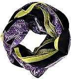 Sciarpa Unisex Verde Nera Viola Versace Scarf Unisex Violette/ Black/Green SCD8MWB0243 var.0022