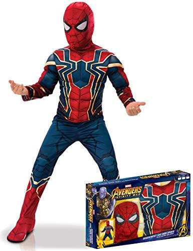 Generique - Iron Spider-Kinderkostüm Deluxe Infinity War-Lizenz bunt