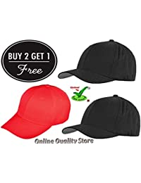 Trendy Cap Black Color for Men's and Women's BUY 2 get Free 1 Cap (Offer for 2 days) …