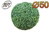 BTV Batovi Premium Buchs, Echtbaum-Optik, große Buchskugel Buxbaum Ø 50 cm 500 mm grün dunkelgrün, robust und wetterfest