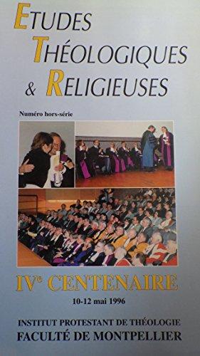 Etudes théologiques et réligieuses  by  Faculté de Théologie Protestante de Montpellier