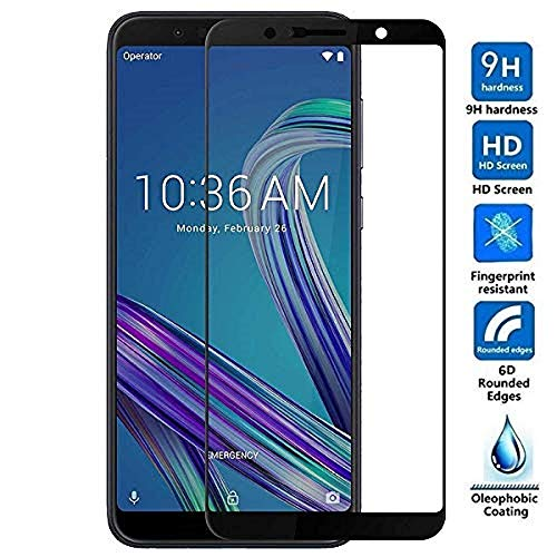 Techgadget 6D Curved Edge-To-Edge Tempered Glass for ASUS Zenfone Max Pro m 1
