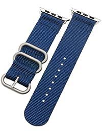 38 mm de la NATO correas de reloj de nylon estilo de lona de los hombres de perlón militares azul de alta calidad correas…