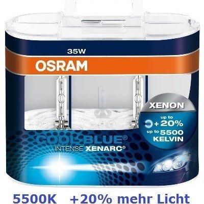 OSRAM 66250CBI-DUO Xenarc D2R Xenon Brenner COOL BLUE INTENSE 2 Lampen (Brenner Seitliche Zwei)