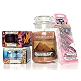 Official Yankee Candle 29 Piece Egyptian Musk Large Jar Gift Set Includes Tea Lights & Vent Sticks