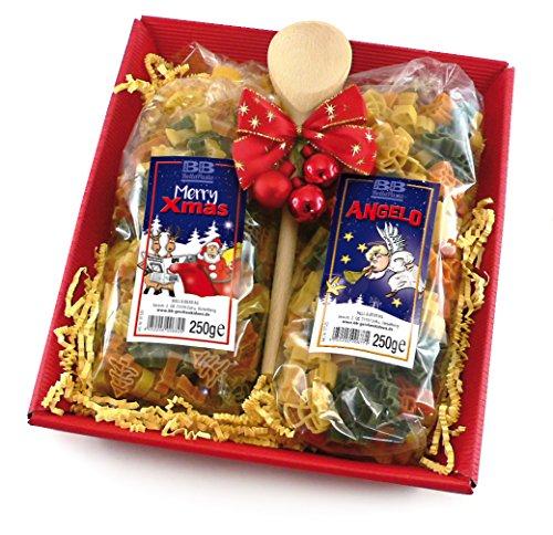 Nudel Geschenkkorb Pasta Frohes Fest