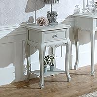 Melody Maison Elise Grau Range–One Schublade Lampe Tisch - preisvergleich