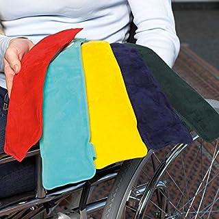 Lehnenpolster (2 Stück, TÜRKIS) mit Gelfüllung, inkl. Klettband, geeignet für Roll- und Bürostühle - Kann aufgewärmt oder gekühlt werden┇Farbe: türkis