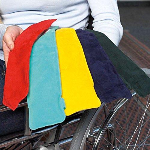 Lehnenpolster (2 Stück, TÜRKIS) mit Gelfüllung, inkl. Klettband, geeignet für Roll- und Bürostühle - Kann aufgewärmt oder gekühlt werden┇Farbe: türkis - 2 Stück Polster
