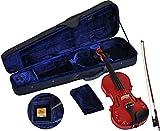 Steinbach 1/32 violon pour gaucher dans le SET rouge avec décor de fleurs fait ? la main ABVERKAUF