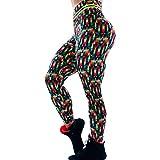 SCHOLIEBEN Donna da Pantaloni Yoga Larghi Estivi Sportivi Leggings da Collant Tempo Libero Palestra Calzamaglie Fitness con Mutande Elastiche A Vita Alta (Verde,L)