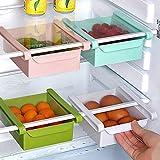#10: Ganesh Shop Plastic Refrigerator Storage Rack, Table Stationary Organizer, Storage Sliding Drawer, Fridge Tray Set of 1, Color May Vary