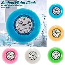 Bluelover Baño pared impermeable resistente reloj temporizador succión taza - azul