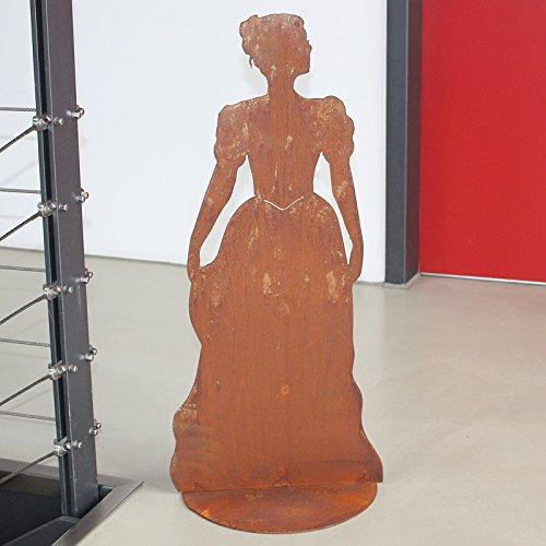 SAREMO Rost Mademoiselle mit geschlossenem Kleid, auf Platte, H ca. 73 cm