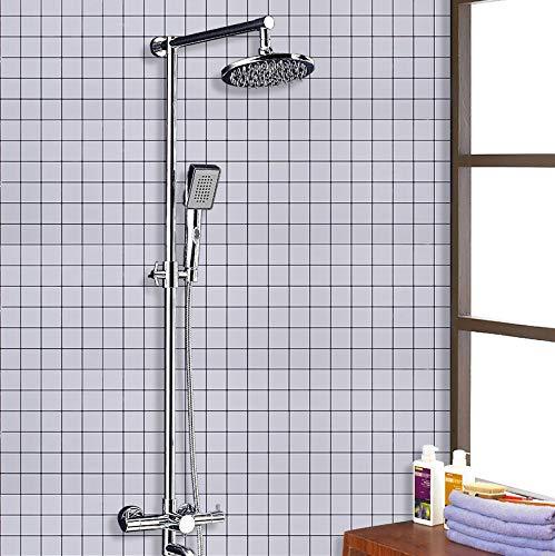 fenjinsheng Fliesenaufkleber 60X300Cm Badaufkleber Küchenöl Wandaufkleber Bad Wasserdicht Duschraum Dekoration Tapete Wc Selbstklebende Fliesentapete