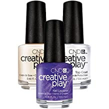 CND Creative Play Cue the Violets Nr. 441 13,5 ml mit Creative Play Base Coat 13,5 ml und Top Coat 13,5 ml, 1er Pack (1 x 0.041 l)