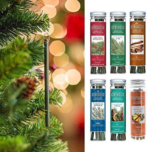 B-Creative Scentsicles Duftstäbchen für Weihnachten, zum Aufhängen, Baum-Dekorationen (Zwei Dashes Zimt)