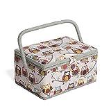 Hobby Gift MRM/195 | grido gufo - di medie dimensioni - Cestino del cucito | 18.5x26x15cm
