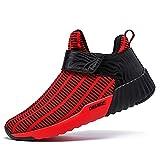 Onemix Unisex Air Scarpe da Ginnastica Corsa Uomo Sportive Running Donna Sneakers Fitness Interior Casual all'Aperto rosso 41 EU